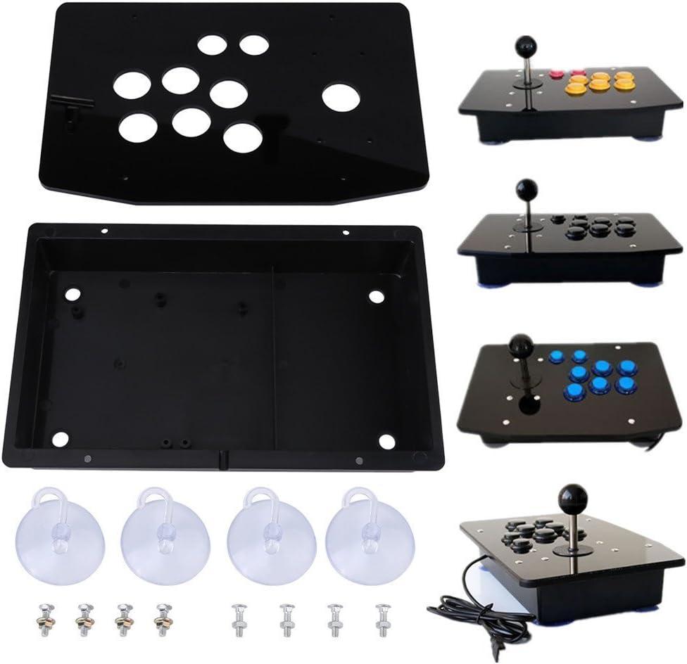 Panel de acrílico negro y estuche DIY Juego de reemplazo de kits para Arcade Game: Amazon.es: Videojuegos