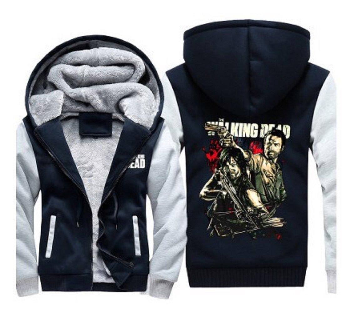 TWD Daryl Dixon Hoodie Sweatshirt Cosplay Fleece Sweatshirt Plus Velvet Hoody Coat Jacket L