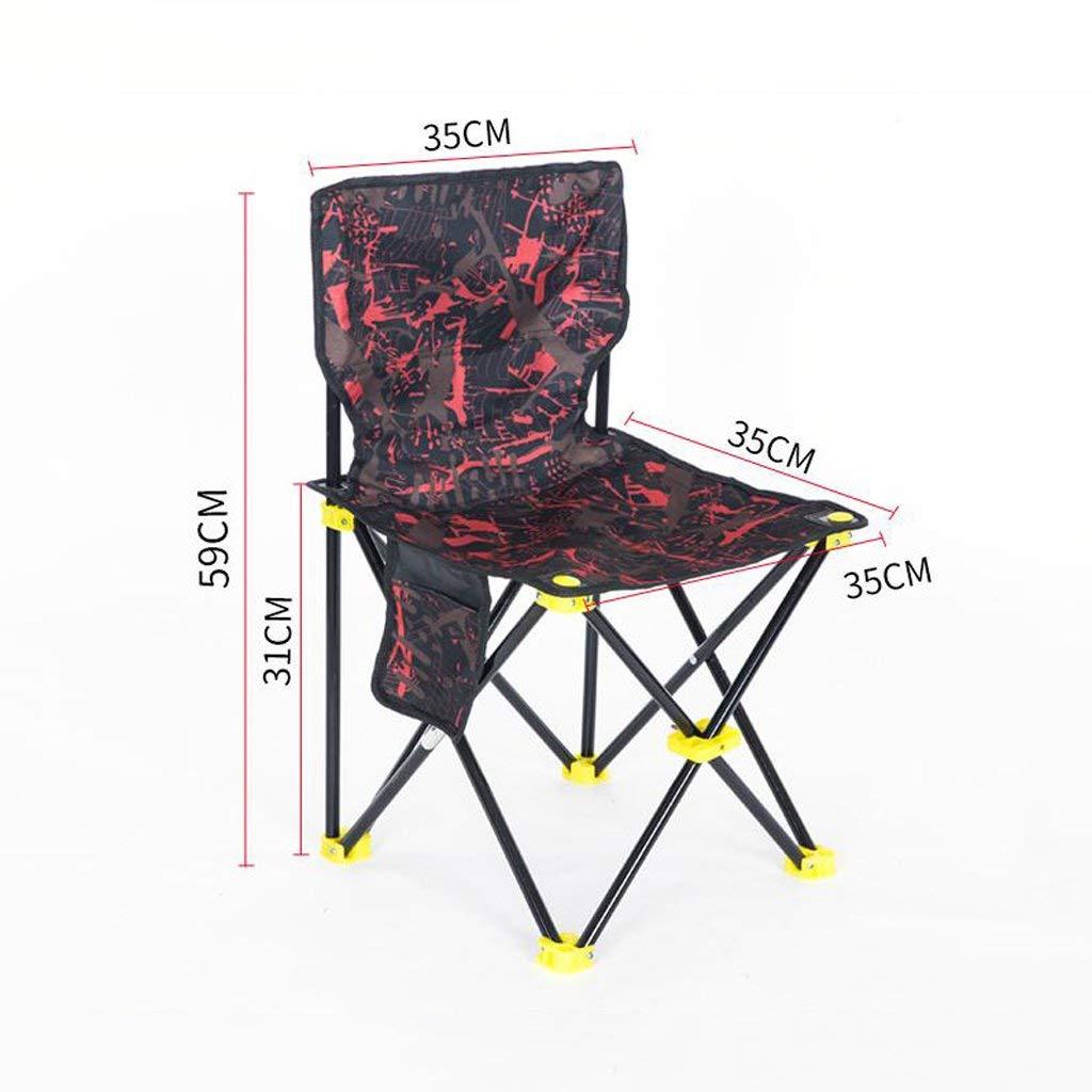 A W38cmH64cm SCJS Chaises Pliantes de Jardin Chaise de pêche Chaise Pliante en Plein air Plage de Camping portable Chaise de Croquis de Peinture (Couleur  D, Taille  W41cm  H72cm)