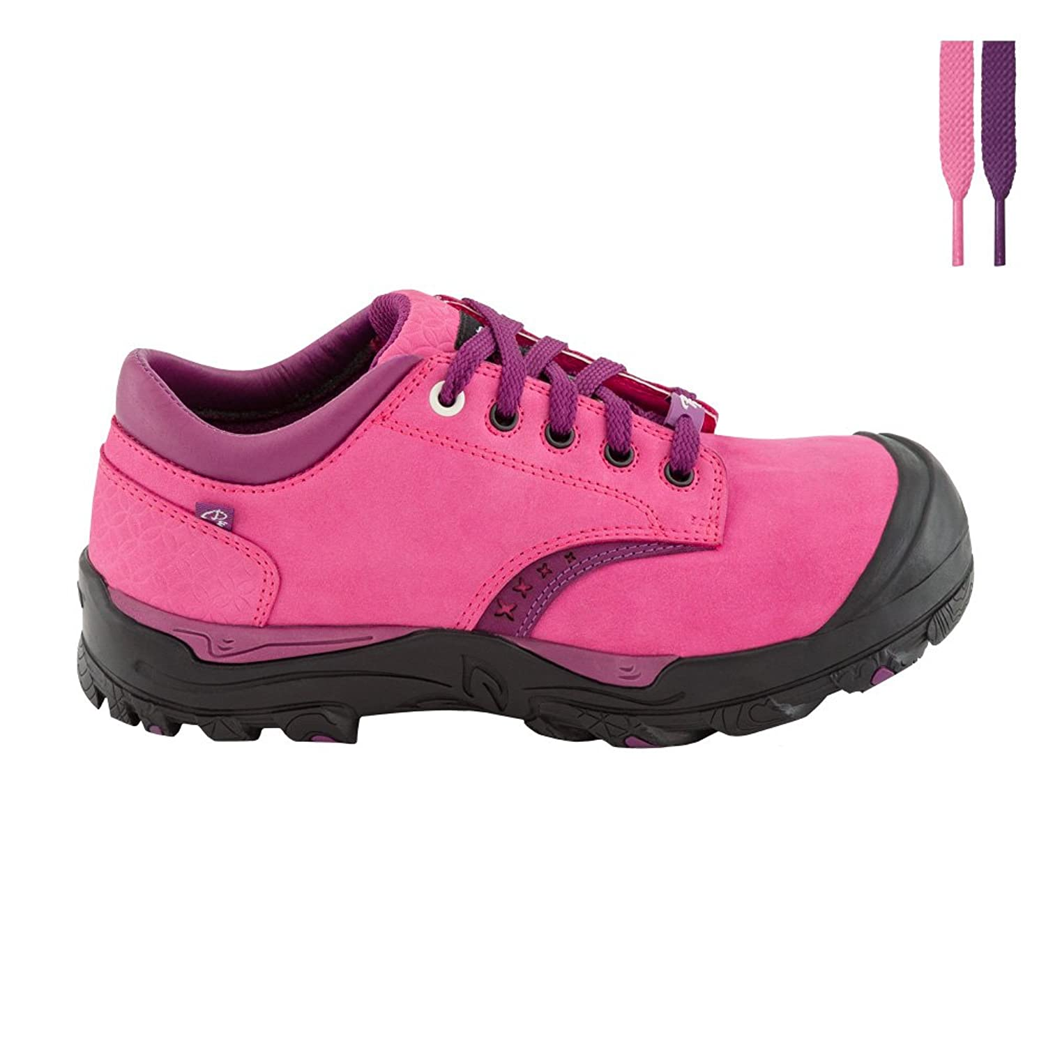 Reebox Womens Work Shoe Size 10 Slip Resistant Black And Pink Lace Up Superior Materials Clothing, Shoes & Accessories