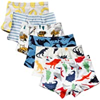 Closecret Soft Cotton Toddler Underwear Little Boys' Assorted Boxer Briefs(Pack of 6)