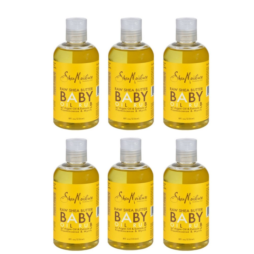 SheaMoisture Raw Shea Butter Baby Oil Rub,8 oz (6 Pack)
