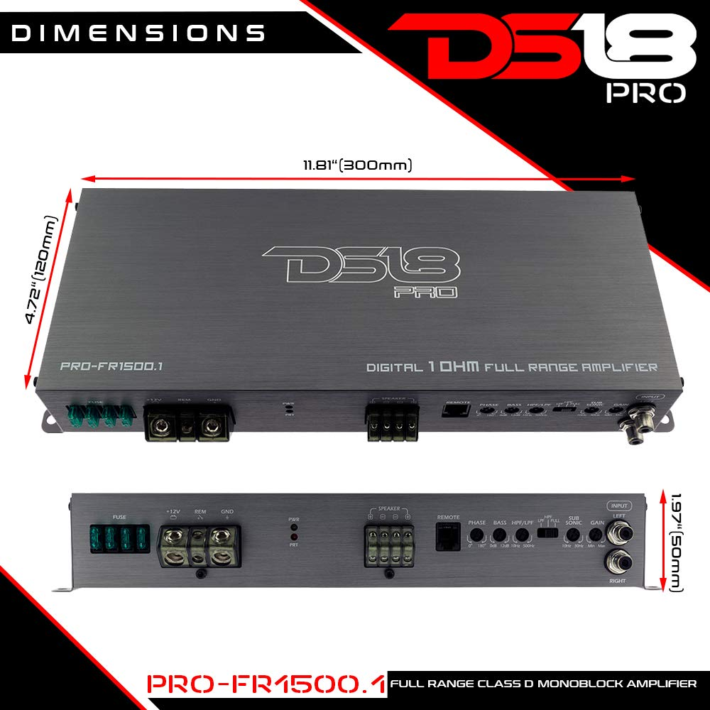 Ds18 Pro Fr15001 1500 Watts Rms Full Range Class D Amplifier Using Tda2009a 12 Watt 15x2 Audio Monoblock Cell Phones Accessories