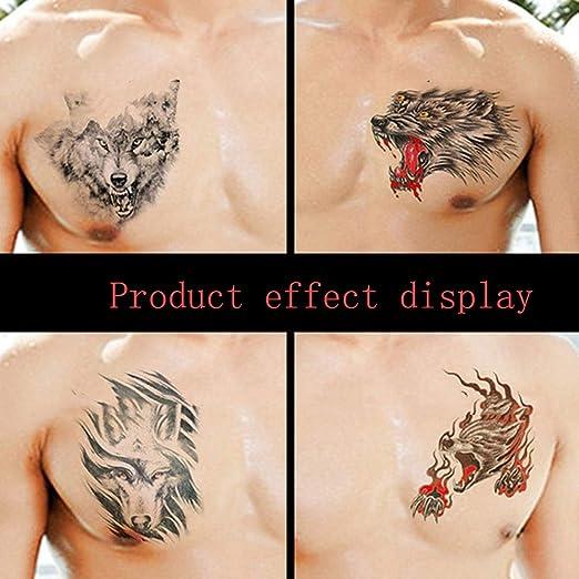 QAWSED Pegatinas de Tatuaje for Hombres y Mujeres Pecho Brazo ...