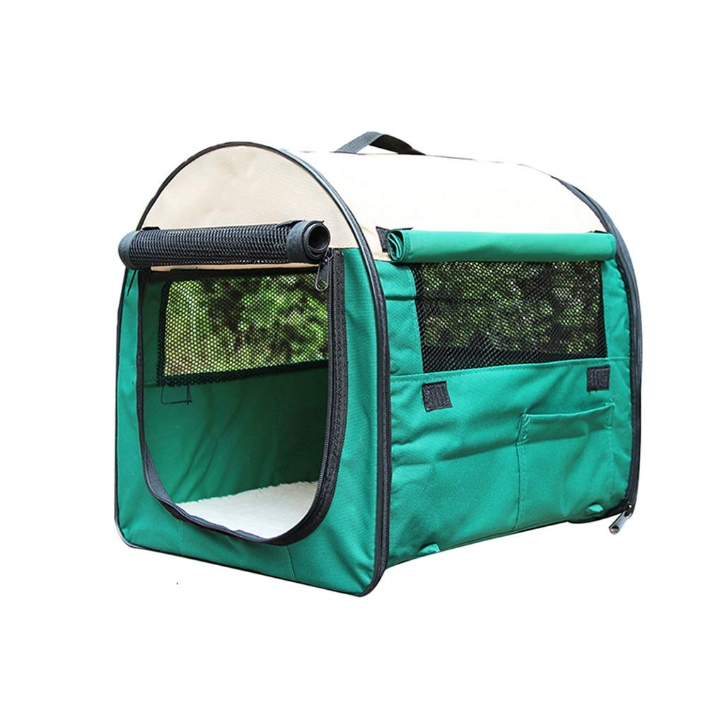 Green 61×46×51cm Green 61×46×51cm Pet Playpens Portable Pet Tent, Indoor Dog Cage Outdoor Fence, Folding Animal Cage Breathable Pet Bed-color Size Optional (color   GREEN, Size   61×46×51cm)