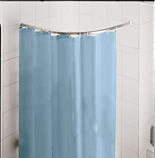 rod round curtain decorating for ideas corner home shower