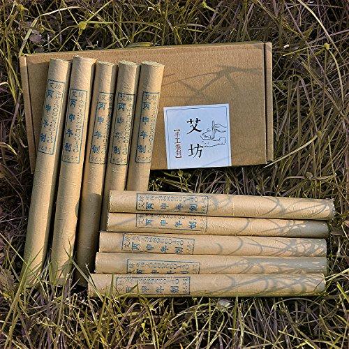 (3 years Pure Handmade Moxa Rolls for Moxibustion Ai ye Chinese Wormwood by)