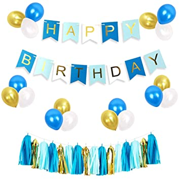 JOYMEMO Set de decoración de cumpleaños para niño, Paquete ...