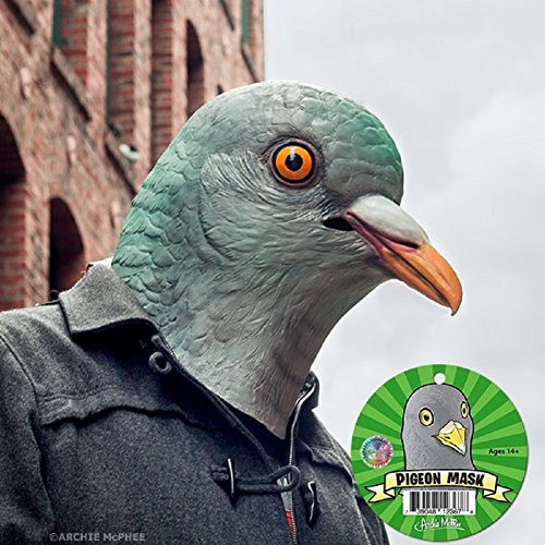 Adult Latex Pigeon Bird Mask Costume Accessory -