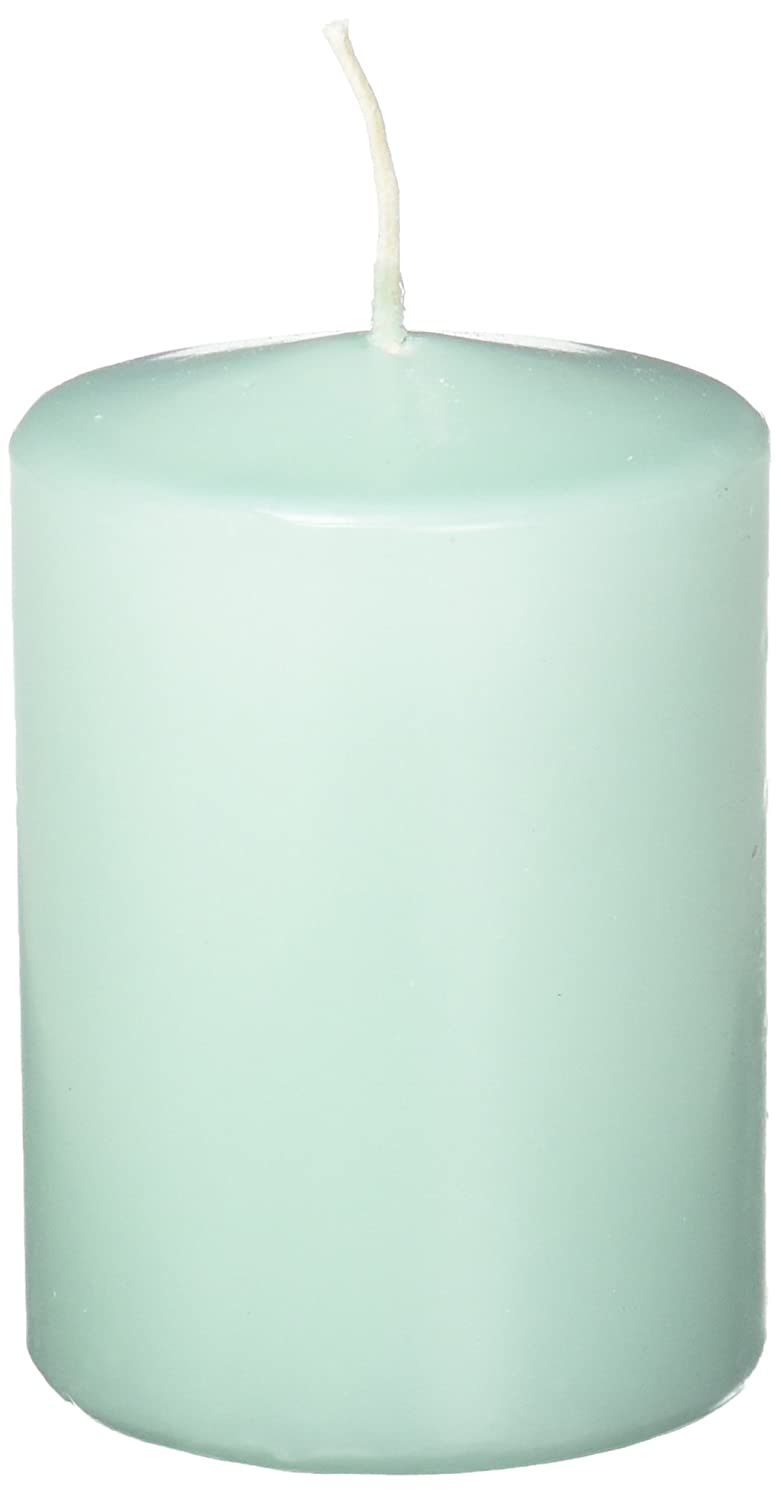 Abbott Collection Classic Pillar Candles, Aqua Blue, Small (3 pack) NEOCAN 10-FA/314