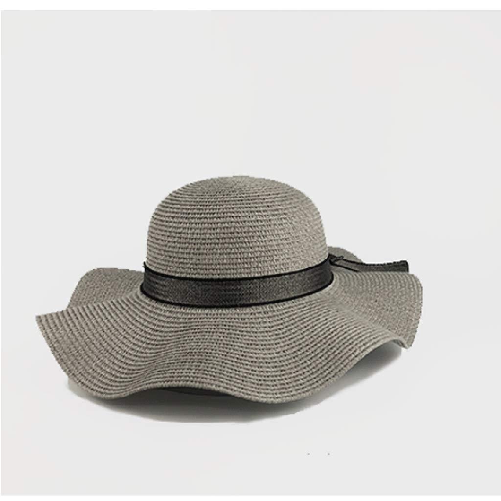 YJWOZ Sombrero de Verano Corbata Grande con Borde Crudo Sombrero ...