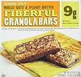 2 Boxes Trader Joe's Fiberful Granola Bars Rolled Oats & Peanut Butter 9 g Fiber For Sale