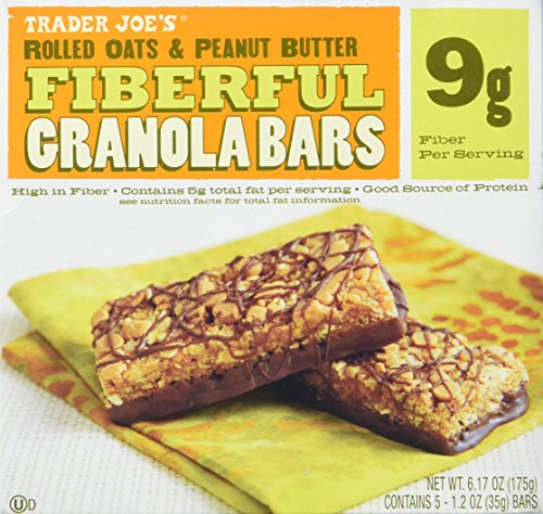 2 Boxes Trader Joe's Fiberful Granola Bars Rolled Oats & Peanut Butter 9 g Fiber