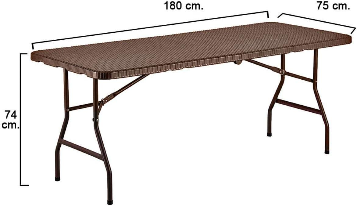 Papillon 8043807 Mesa Plegable Rectangular Marron 180 x 75 x 74 cm