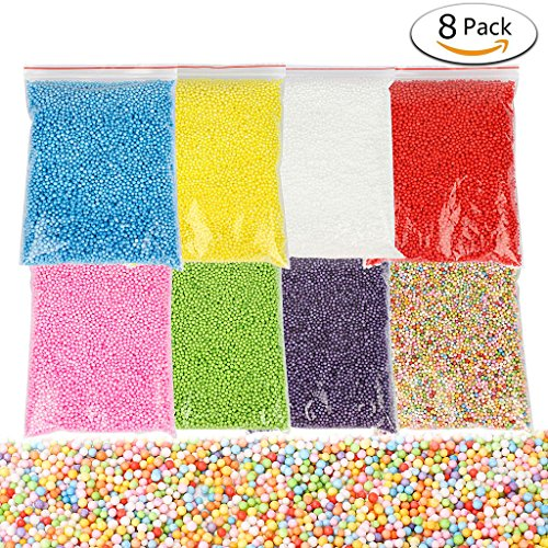 Find Cheap iBayam Styrofoam Foam Balls 0.08-0.8 Inch Colorful Arts Craft Ball Beads for Slime or Dec...