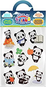Pandas Thick Gel Clings Incredible Removable Window Clings for Kids, Toddlers - Bear, Cuddles, Apples, Rain, Reading - Incredible Gel Decals for Glass, Walls, Planes, Classrooms, Bedroom, Nursery