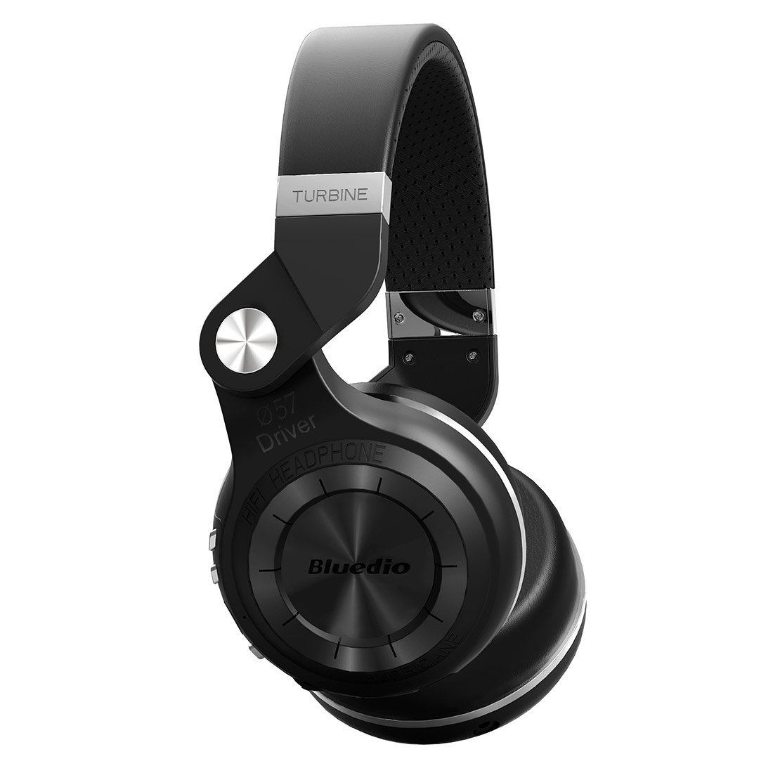 Bluedio T2 Plus Turbine Wireless Bluetooth Headphones with Mic/Micro SD Card Slot/FM Radio (Black) by Bluedio