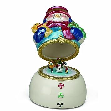 Amazon.com: Mr. Christmas Mini Porcelain Music Box, Snowman: Home ...