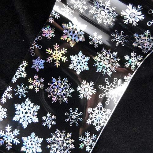 Acamifashion Christmas Snowflake Pattern Nail Art Sticker Tip Decal Manicure DIY Self-adhesive Nail Foils Transfer Sticker Paper