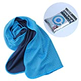 Cooling Towel for Instant Cooling Relief Pack of 2 - Use for Sports, Workout, Fitness, Gym, Yoga, Pilates, Travel, Camping & More 40 x12