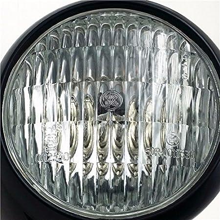 R/étro Noir Phare Lampe pour Cruiser Chopper Cafe Racer Bobber Shadow Big Dog Cruiser XL