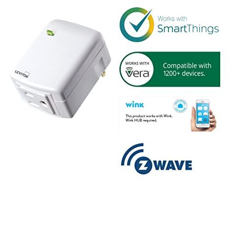 Leviton Decora Smart Plug, Appliance Module, Z-Wave, 15-Amp, Works ...