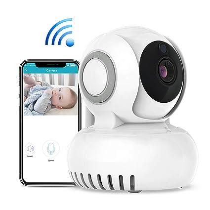 Bebé Monitor Vigilabebés,WiFi Cámara IP, Intercomunicador Bidireccional, Canciones de Cuna,Detección