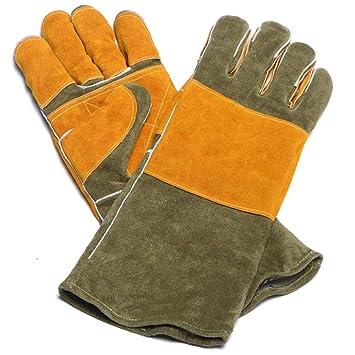 GG-gloves Soldador del Seguro del Trabajo Guantes industriales de 400 Grados Aislamiento térmico Retardante