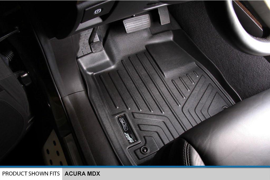 2007-2013 Black MAXLINER A0084//B0084//D0084 Floor Mats /& Tray Cargo Liner Behind 2nd Row for Acura MDX 2 Row Set