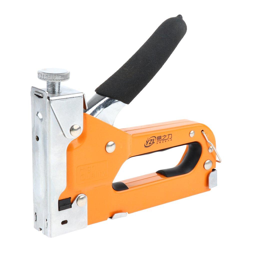 MagiDeal Manual 3 In 1 Brad Nailer Staple Gun Carpenter Tool - extra 1000 T-type staples