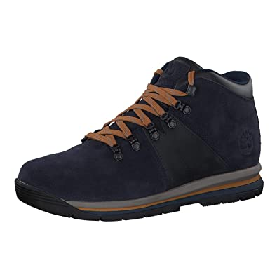7d9b3788369 Timberland GT Rally Mid Leather WP - Chaussures Homme - Bleu Pointures US 8
