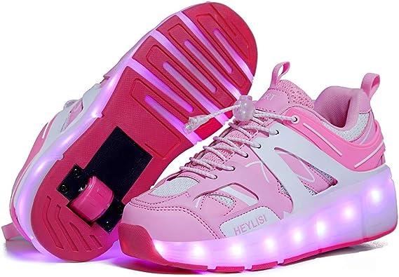Unisex Led Luz Automática de Skate Zapatillas,Led Luz Automática de Skate Zapatillas con Ruedas Zapatos Patines Deportes Zapatos Deporte Gimnasia Running Zapatillas: Amazon.es: Zapatos y complementos