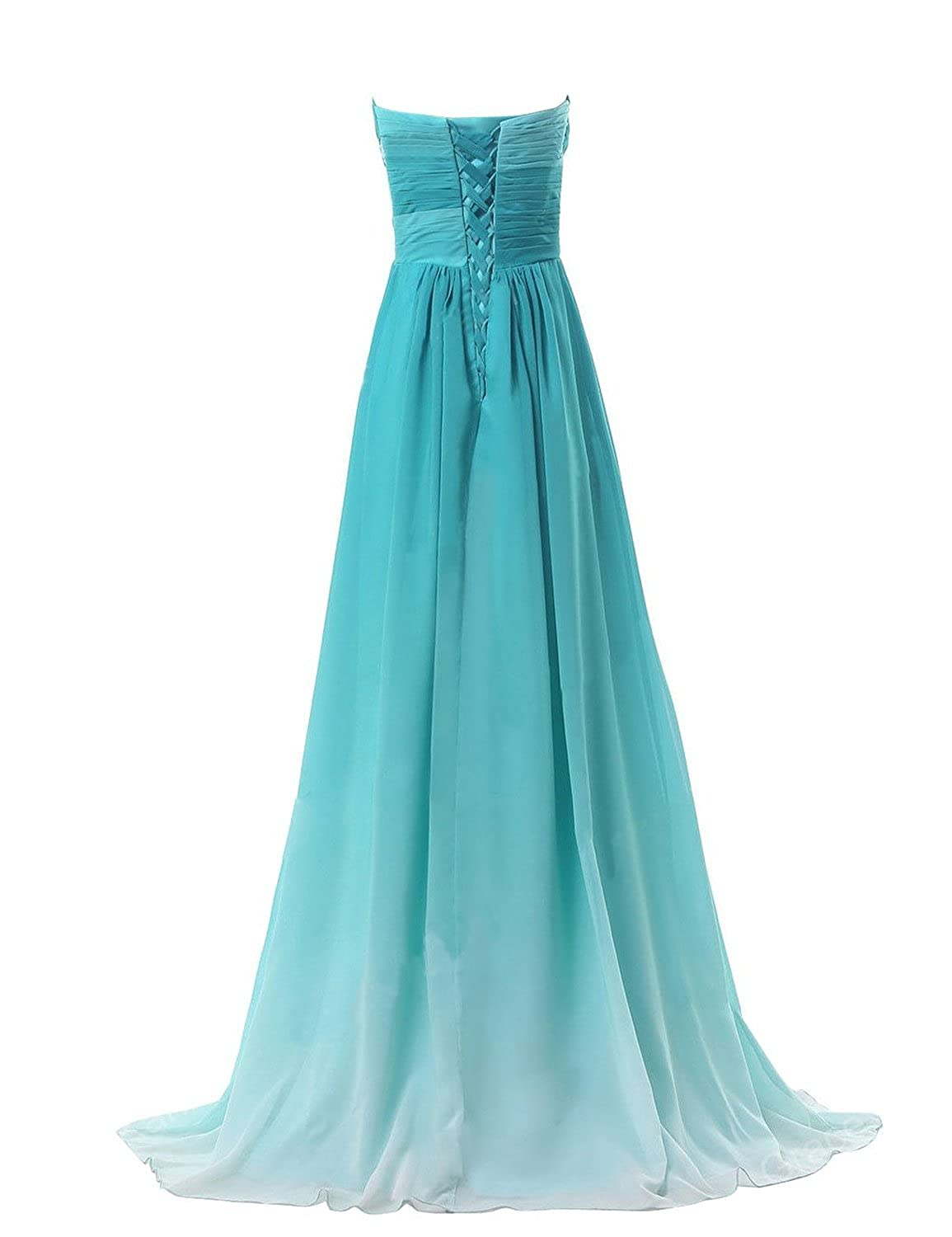 Sweetheart Womens Formal Evening Gowns Chiffon Long Bridesmaid Prom Dresses (14, green) at Amazon Womens Clothing store: