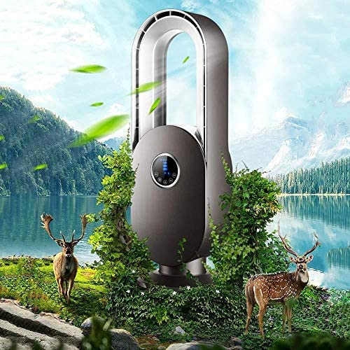 ZKKZ-FANS Bladloze ventilator met afstandsbediening Ultra-rustige Home Dormitory Desktop Toren Vloer Luchtcirculatie Ventilator 45 W CyygaliD