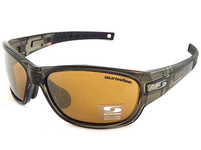 16a24b9cd76 Sunwise Charleston Sports Sunglasses Olive Brown Gold Mirror Lens  Amazon.co .uk  Clothing