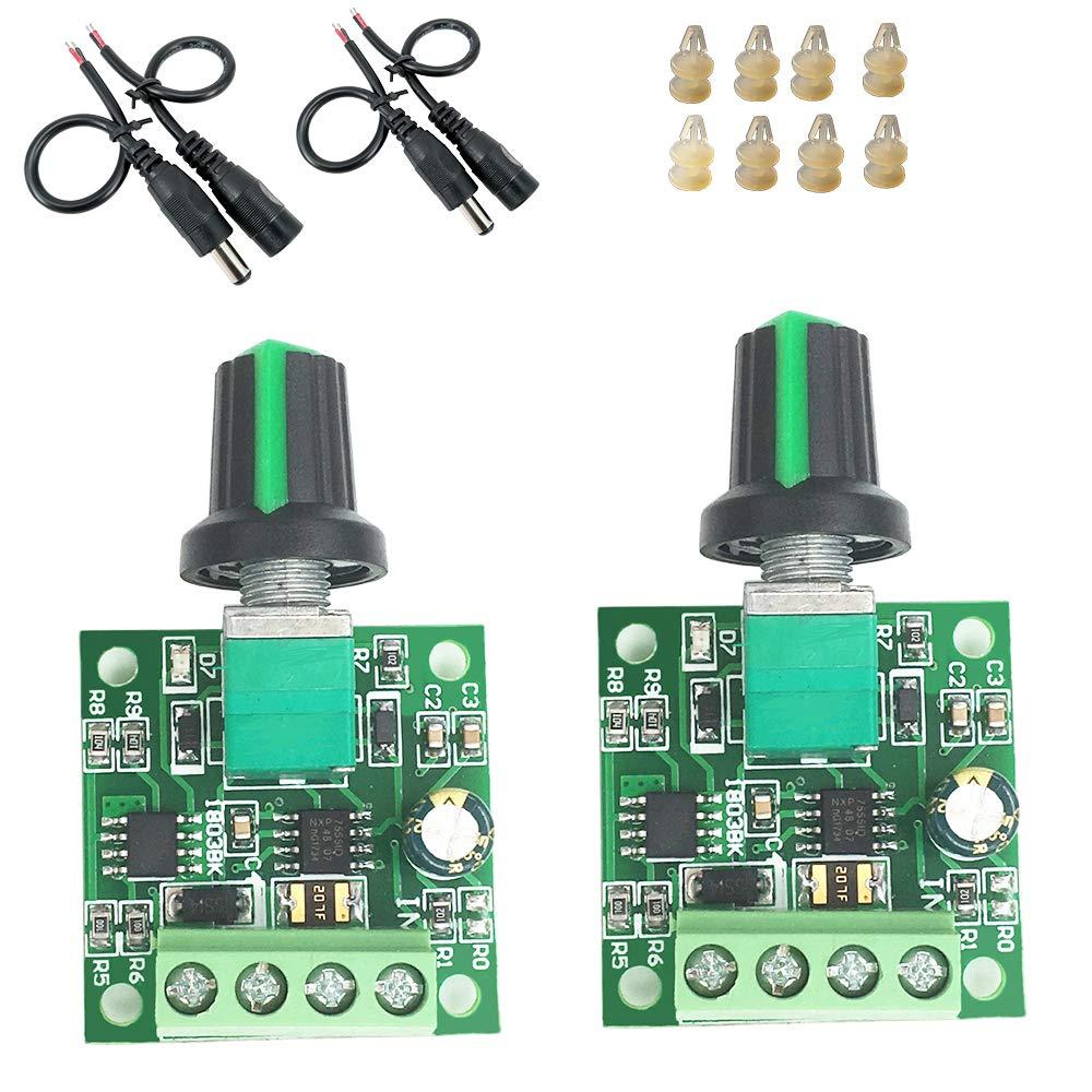 ZJLBTY 2 pieces/piece PWM DC1.8V 3V 5V 6V 12V 2A DC motor speed governor DC water pump governor.