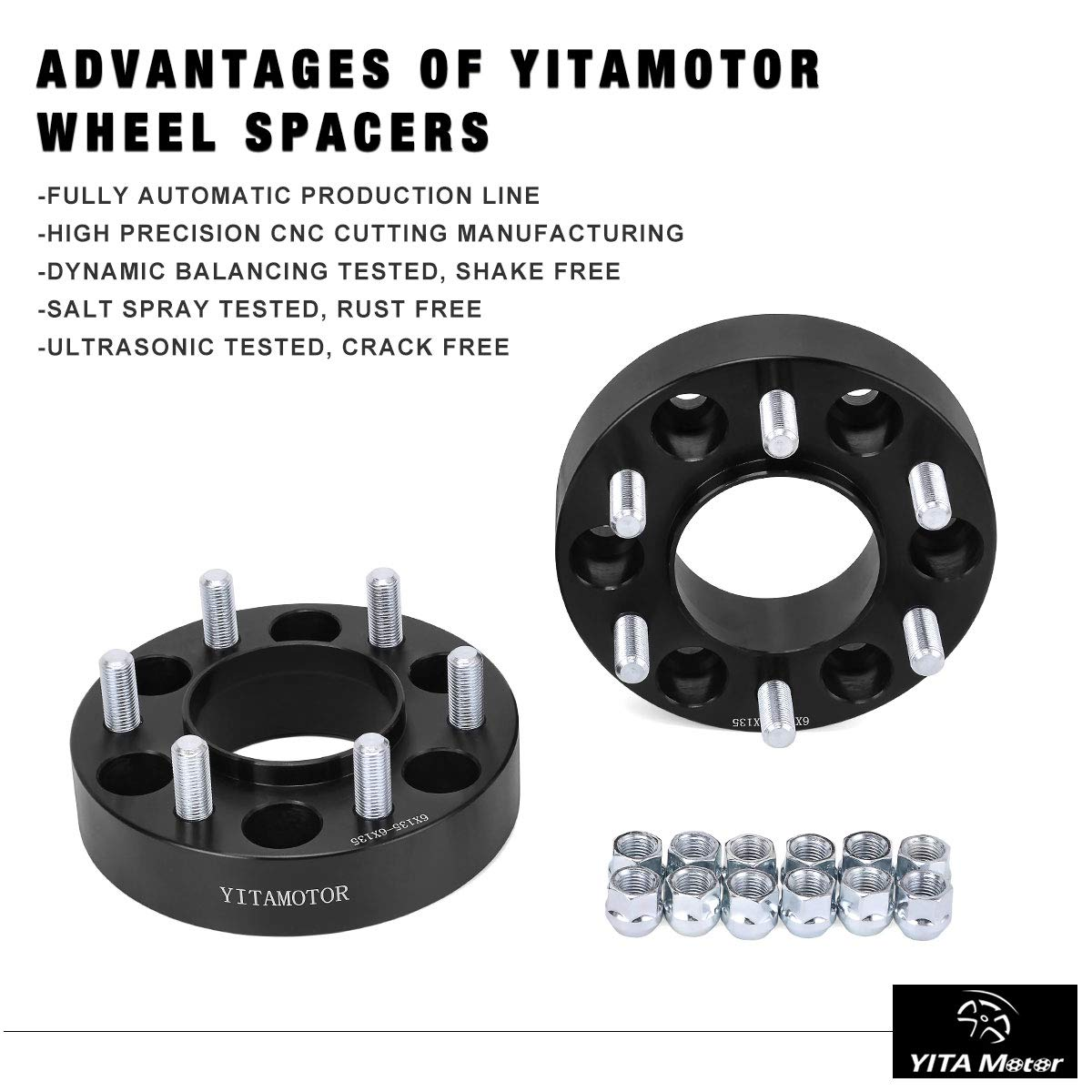 Amazon com: YITAMOTOR Wheel Spacers 6x135 for F150, 1 5