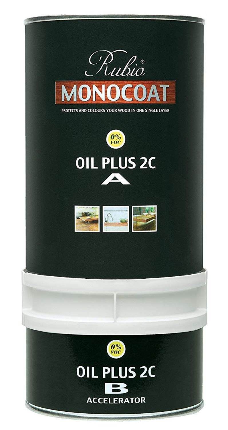 Rubio Monocoat Wood Stain RMC Oil Plus 2C Ash Grey, 350 ML