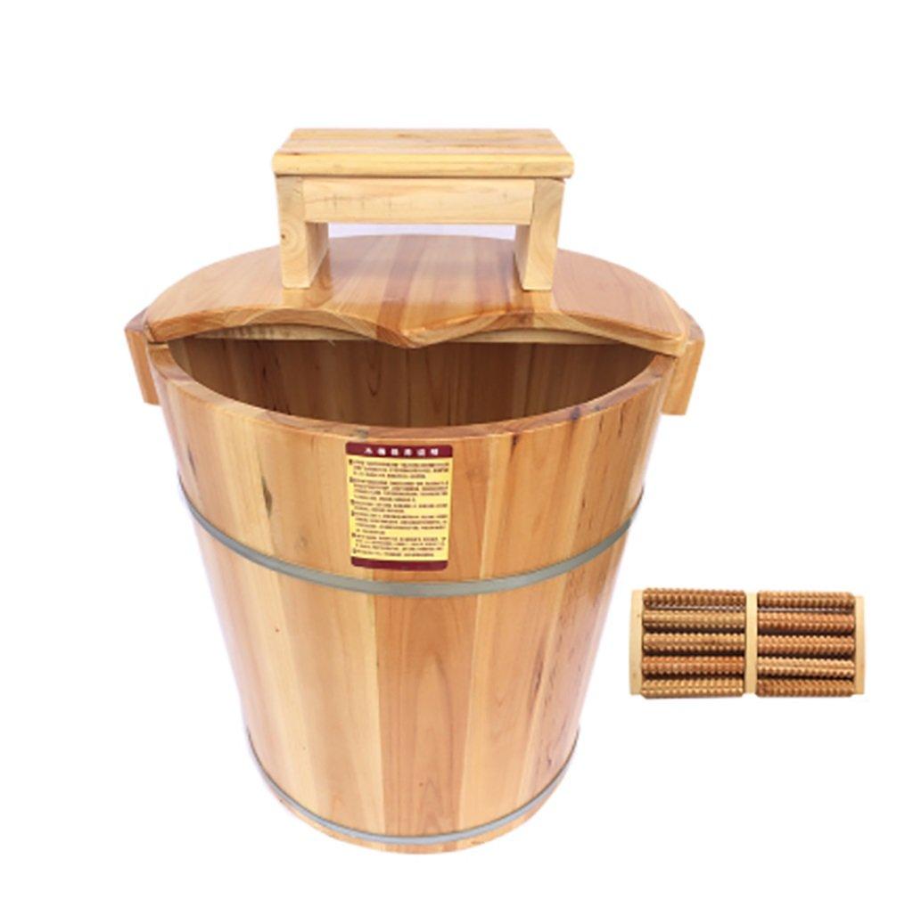 フットバスバレル、固体木の家40センチメートル足バレル、木製フットスパの噴水、フットマッサージ洗面器、フットバスバレルサイズ:32 * 40 * 36センチメートル (色 : C) B07F38THRC C