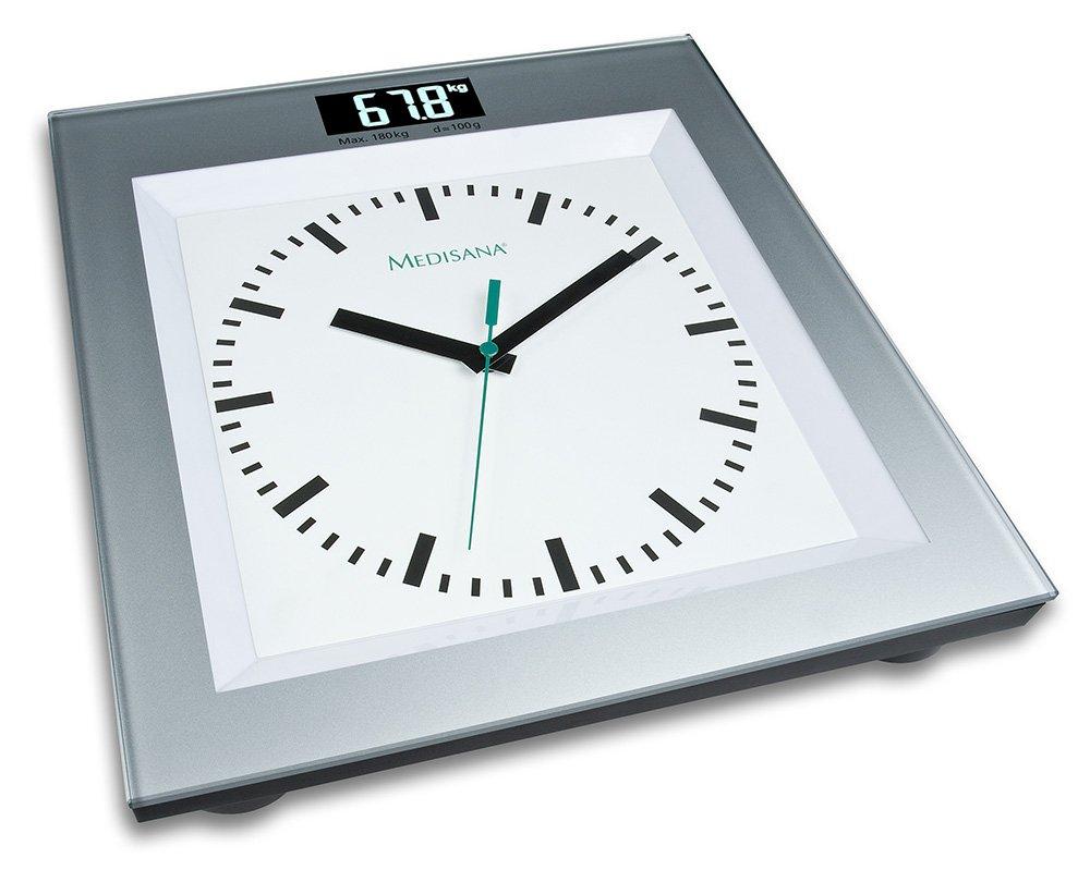 Medisana PSA - Báscula personal, con reloj analógico integrado: Amazon.es: Salud y cuidado personal