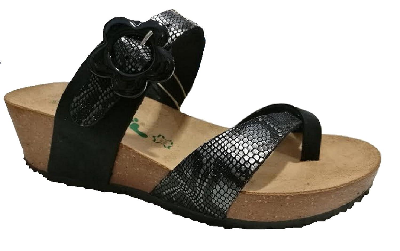 ad8f1b7199fb Bionatura Women s Thong Sandals black Size  5  Amazon.co.uk  Shoes   Bags