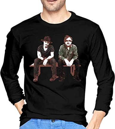 Camiseta de Manga Larga para Hombre Tim Burton y Johnny Depp Negro: Amazon.es: Ropa y accesorios