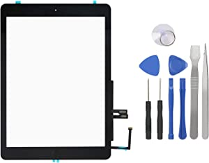 Touch Screen Digitizer for iPad 6th Generation – iPad 2018 Front Glass Replacement with Home Button & Tool Repair Kit (A1893, A1954)