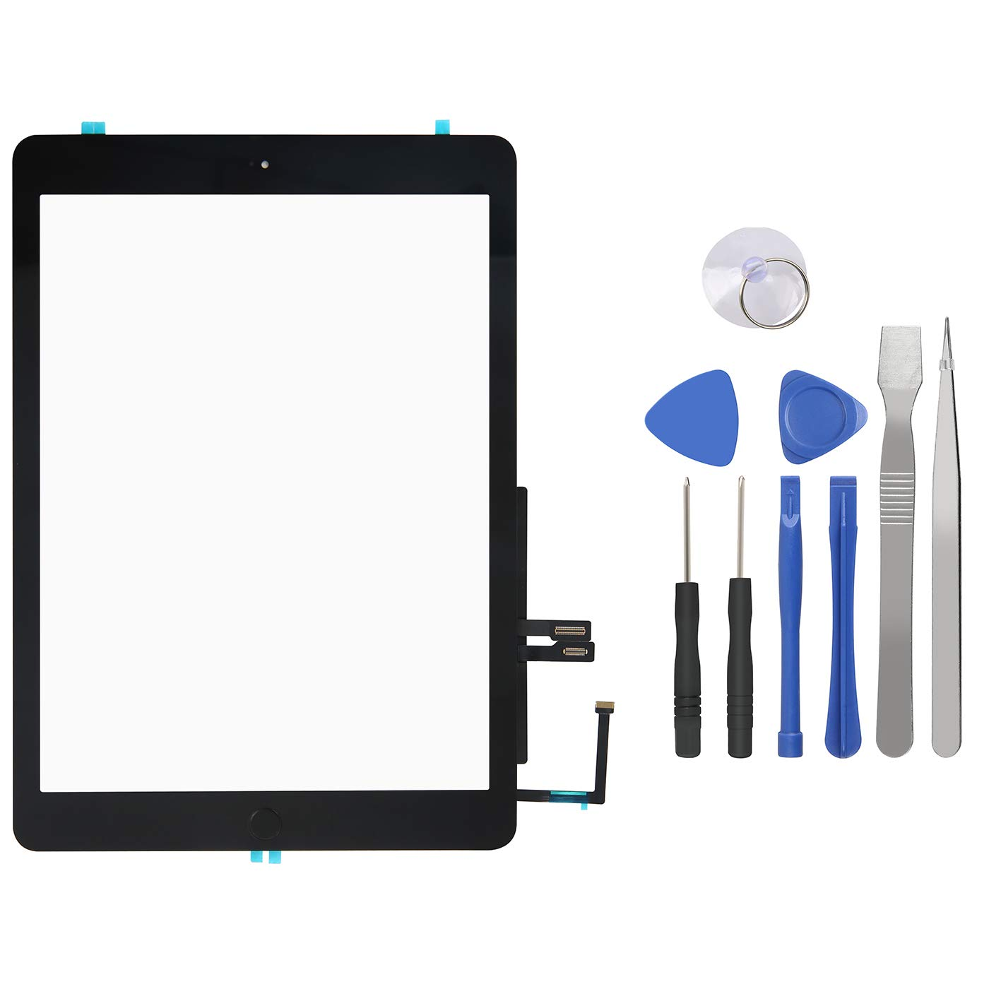 Touch Screen Digitizer for iPad 6th Generation - iPad 2018 Front Glass Replacement with Home Button & Tool Repair Kit (A1893, A1954)