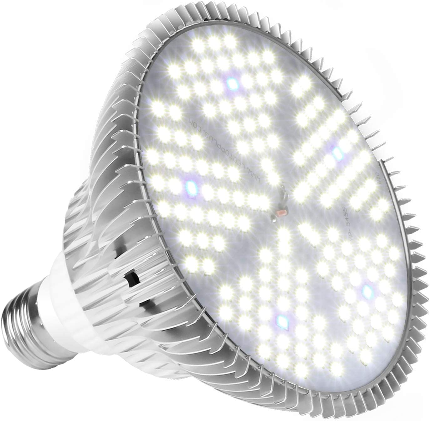 Led Plants Bulbs for Flowers Tobacco Garden Greenhouse and Organic Soil 100W Led Grow Light Bulb Pure White Plant Lights Full Spectrum for Indoor Plants Hydroponics E26//E27 150LEDs