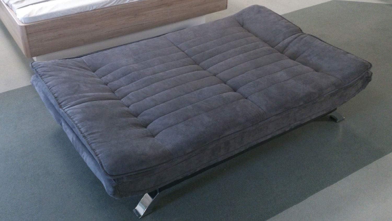 Schlafsofa Clirk ausklappbares Bettsofa Funktionscouch in Stoff grau gespteppt