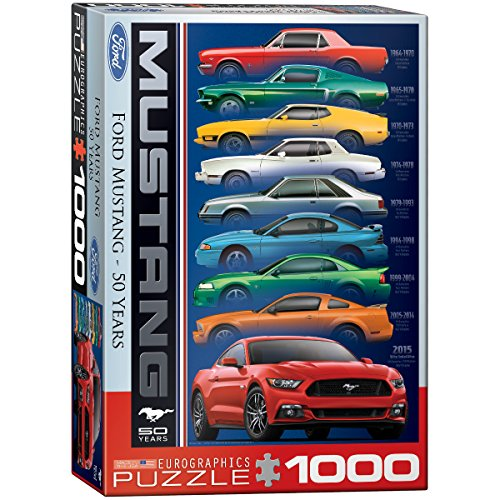EuroGraphics Ford Mustang 9 Model Jigsaw Puzzle (1000-Piece)