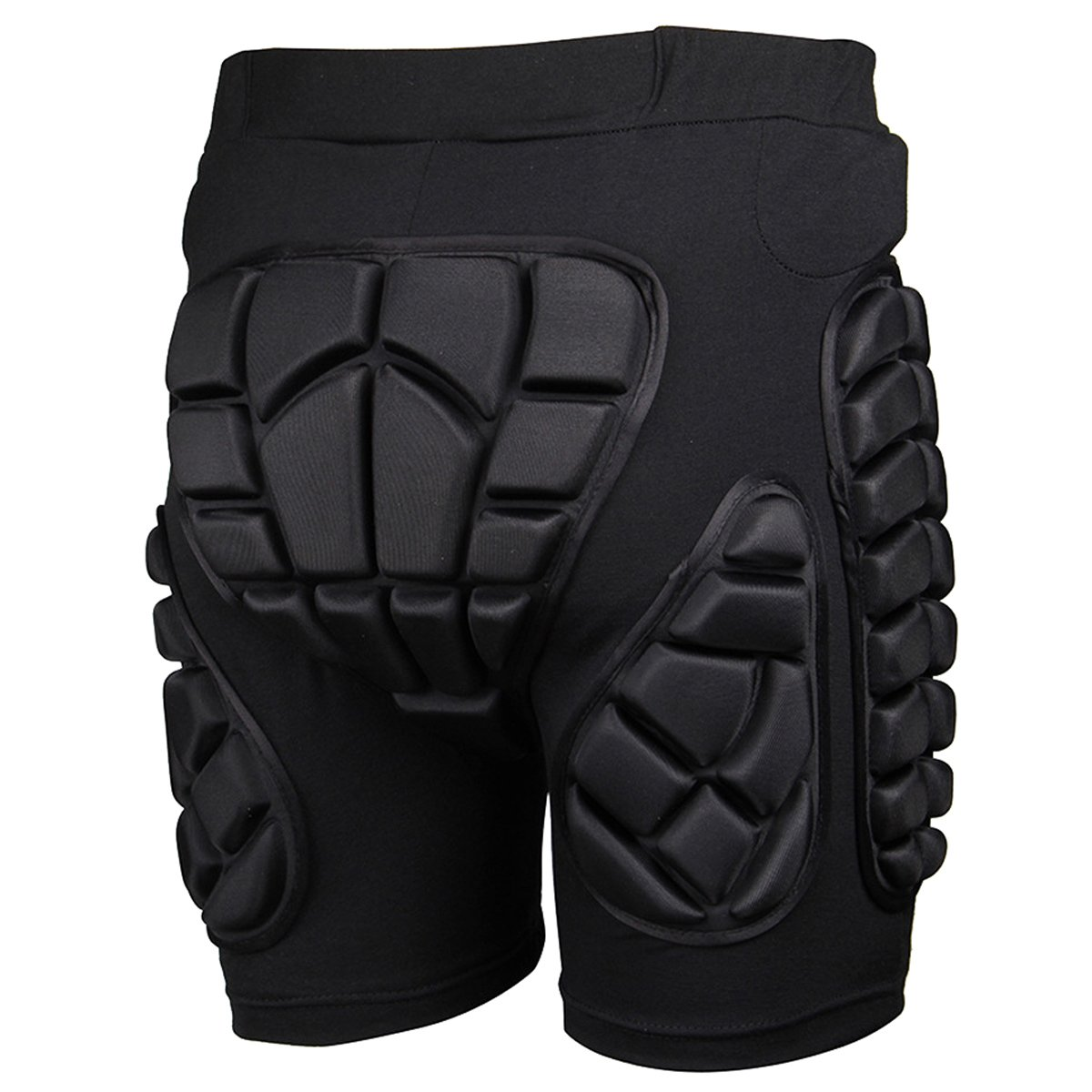 3D Protective Pads Compressin Shorts Hips Butt Protection for Ski Skiing Skating Snowboard Cycling, Fits for Kids / Teens / Adults