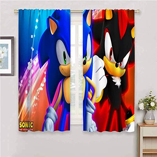 Zmcongz Black Out Window Curtain 2 Panel Sonic Curtain