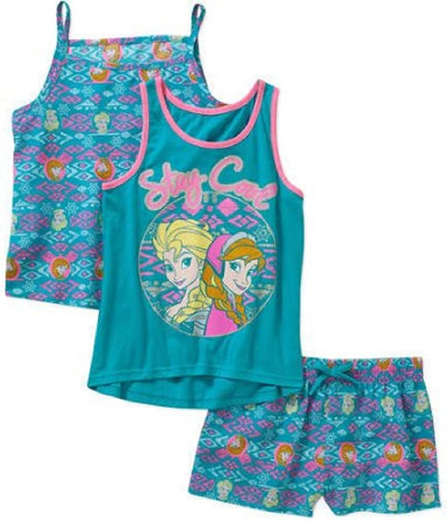 Cami Disney Frozen Girls Tank and Shorts 3 Piece Set